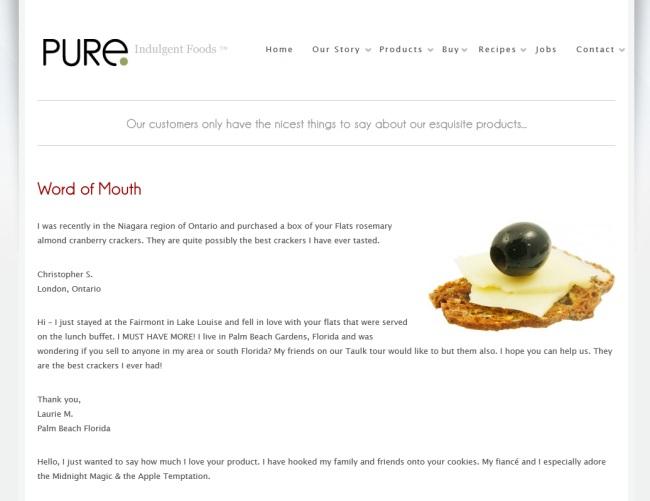 Pure Indulgent Foods Inc.